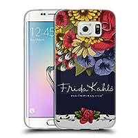 Official Frida Kahlo ブルーム レッド・フローラル ソフトジェルケース Samsung Galaxy S6 edge