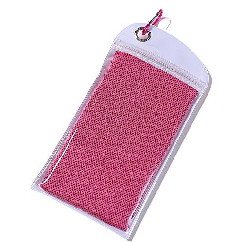 速乾スポーツタオル 収納しやすい 防水袋付き 急速冷却 さわやかな冷感 超吸収 超軽量 抗菌 UVカット 熱中症対策