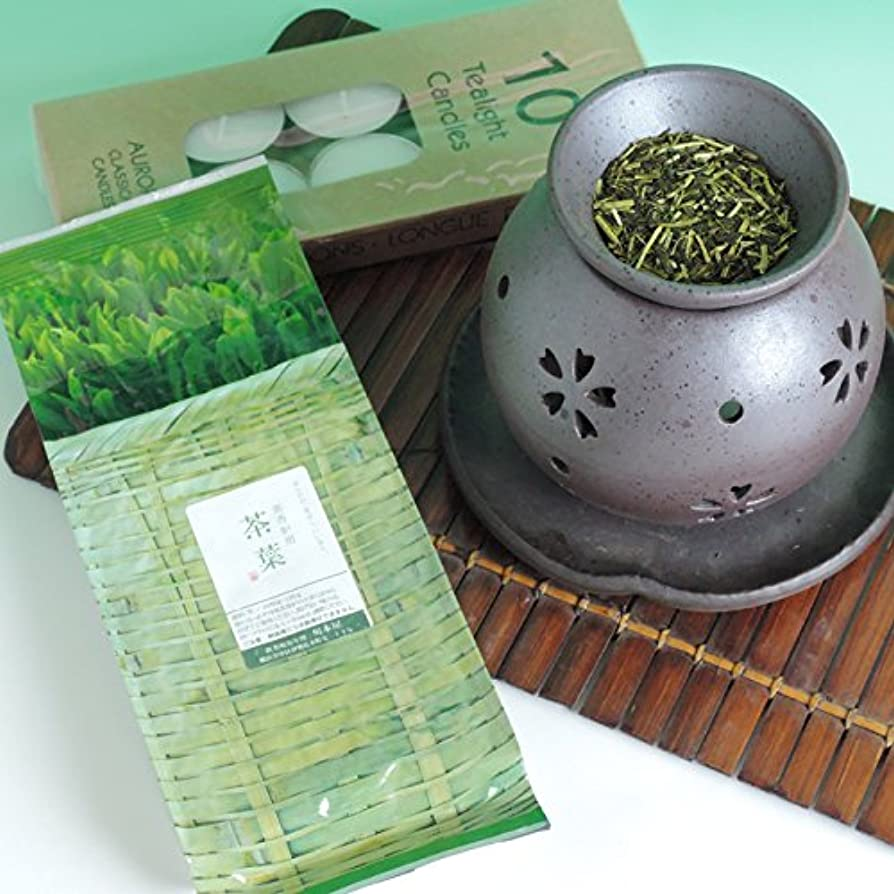 座るより良い感動する茶香炉 盛正作 ローソク 茶香炉専用 茶葉 セット 川本屋茶舗