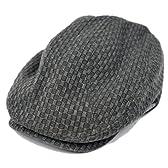 BIGWATCH(ビッグワッチ) 帽子 大きいサイズ カーボン ハンチング ブラック GHN-01 メンズ