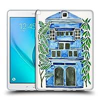 オフィシャル Cat Coquillette ブルー・ハウス ビルディング Samsung Galaxy Tab A 9.7 専用ソフトジェルケース