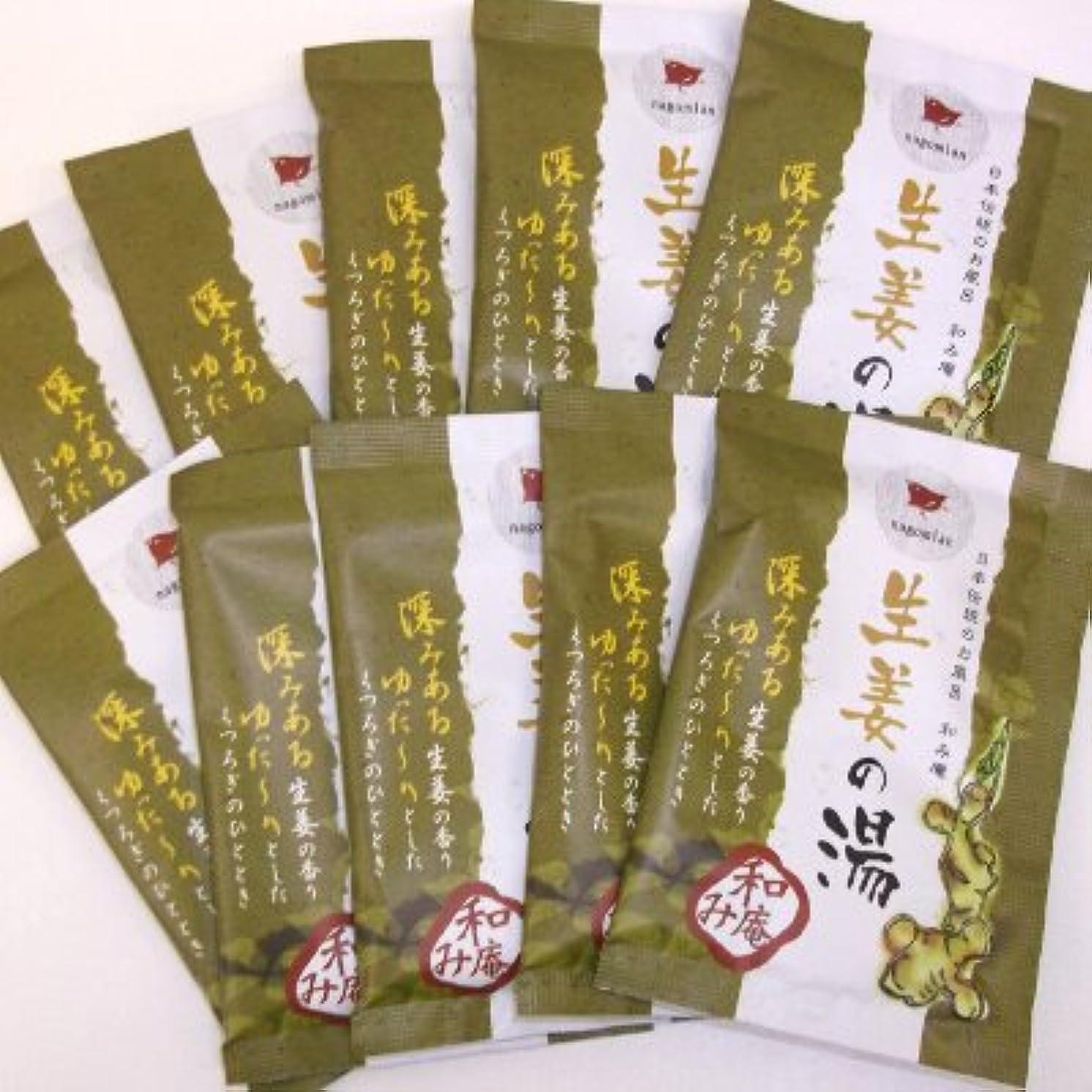 野菜むき出し調査和み庵 生姜の湯 10包セット