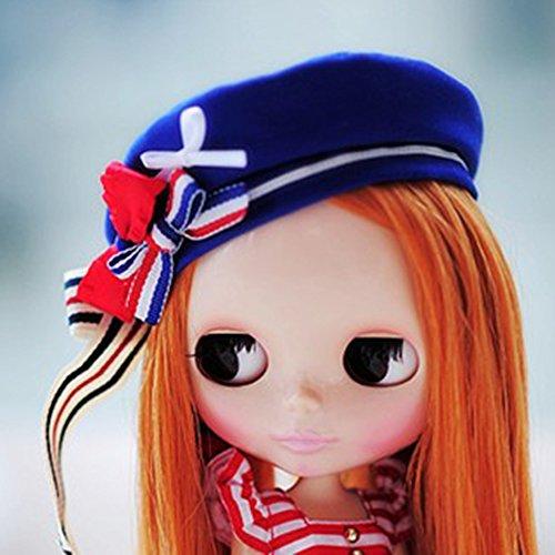 (ドーリア)Dollia ブライス 1/6ドール用 アウトフィット アメリカ風 星条旗海軍キャップ ネオブライス ドール 人形 (海軍キャップ)