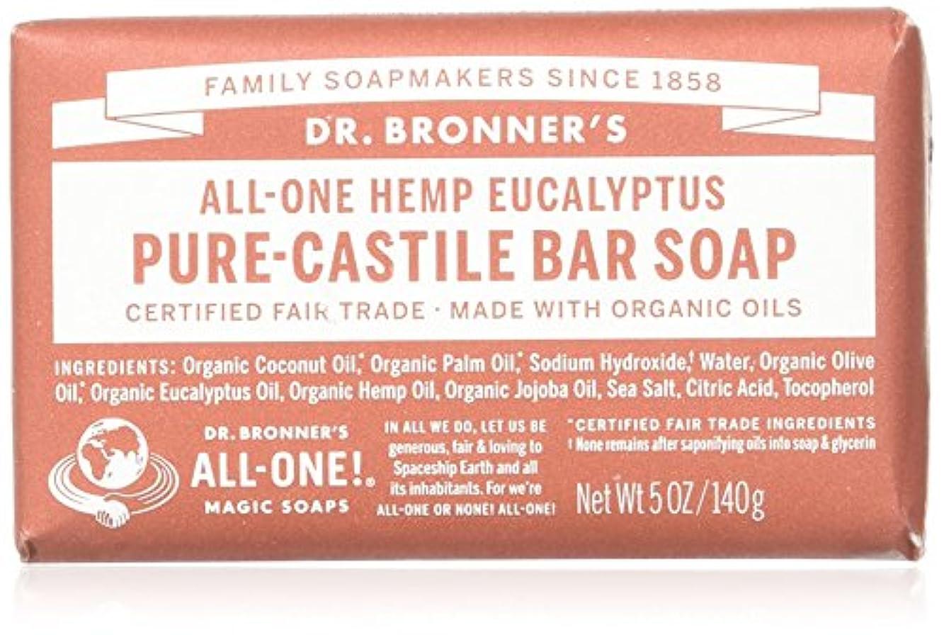 自体バズのれんDr. Bronner's Eucalyptus Bar Soap Made with Organic Ingredients 141 g by Dr. Bronner's [並行輸入品]