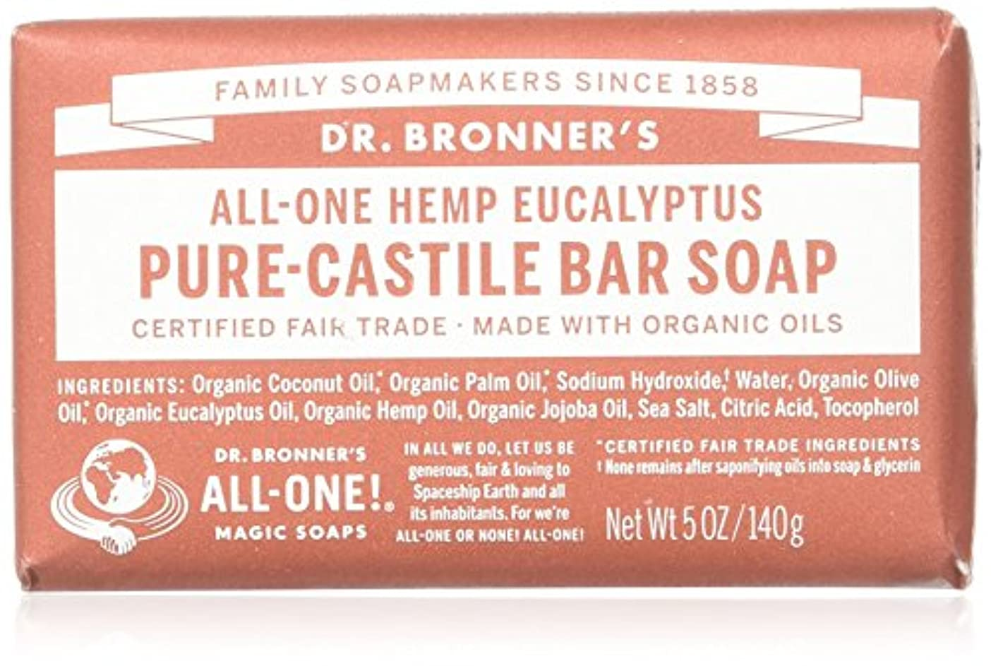 閃光旋律的提供されたDr. Bronner's Eucalyptus Bar Soap Made with Organic Ingredients 141 g by Dr. Bronner's [並行輸入品]
