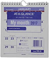 "Mini Monthly Wall Calendar, 6-1/2"" x 7-1/2"", White, 2015 (並行輸入品)"