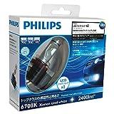 PHILIPS(フィリップス)  フォグランプ LED バルブ H8/H11/H16 対応 6700K 2400lm 12V 9W エクストリームアルティノン X-treme Ultinon 車検対応 3年保証 2個入り 12794UNIX2