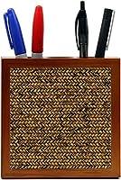 Rikki Knight Grunge Dark Basket Weave Design Inch Tile Wooden Tile Pen Holder [並行輸入品]
