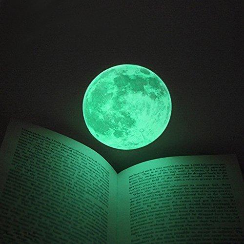 VANCORE 月 蓄光ウォールステッカー 蓄光 シール 直径12cm 童話の世界