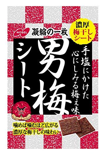ノーベル製菓 男梅シート 27g×6個