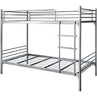 タンスのゲン 二段ベッド スチール パイプ 2段ベッド コンパクト LITH リト シルバー 65190027 SI