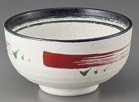 多用碗 黒と赤絵刷毛多用碗 [13.9 x 7.4cm] 料亭 旅館 和食器 飲食店 業務用