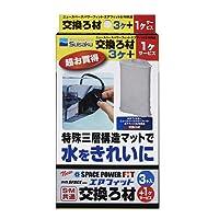 水作 ニュースペースパワーフィット・エアフィットS/M共通 交換ろ材 3+1パック