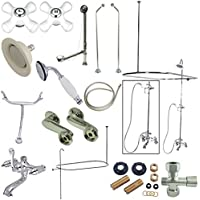 Kingston Brass CCK1181PX Clawfoot Tub Package with 24 in. Supply Lines