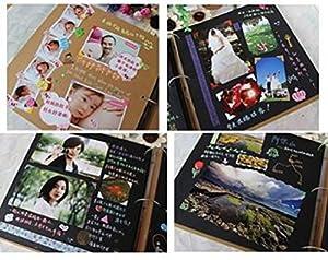 (Fun Market) 自分で創る 手作り フォト アルバム DIY 写真集 スクラップ ブッキング 基本 5種類12点 セット (1.ゴールドgld, ハート)