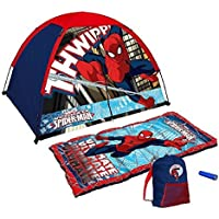 [Exxel]Exxel Marvel Ultimate Spiderman Tent and Sleeping Bag 4 Piece Fun Camping Kit [並行輸入品]