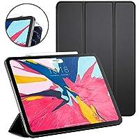 DTTO iPad Pro 11 ケース 強力磁気吸着式の背面 超薄型 新しいApple Pencilにワイヤレス充電対応 プレミアムレザー 三つ折スタンド オートスリープ機能 スマートカバー 2018秋発売のiPad Pro 11に対応 ブラック