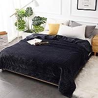 テクスチャ パターン ファジィ フランネル 毛布, ジャカード 暖かい ソフト 快適で 毛布キルト 二重層 特大 掛け毛布-グレー 200x230cm(79x91inch)