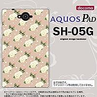 SH05G スマホケース AQUOS PAD SH-05G カバー アクオス パッド 花柄・バラ(C) ベージュ nk-sh05g-246
