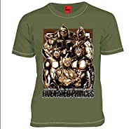 MARS16 キン肉マン 運命の五王子 Tシャツ オリーブドラブ (XL)
