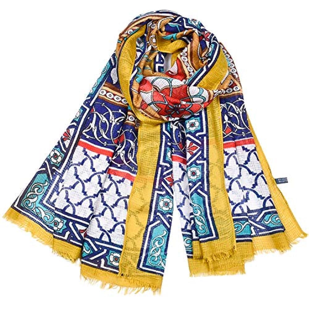 トーンかもめ一スカーフ 女性向け 綿とリネン タッセル プリント 民族風 ショール 四季通用 多機能 防寒 冷房対策 日焼け止め