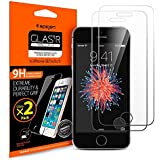 【Spigen】 iPhone SE ガラス フィルム GLAS.tR SLIM ** 2枚入 アップグレードVer. ** [ 液晶保護 9H硬度 Rラウンド 加工 ] アイフォン se / 5s / 5c / 5 用 (Glas.t R SLIM【SGP10111】)