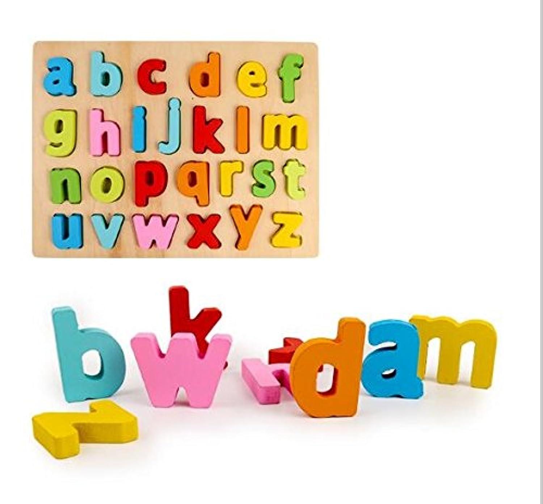 HuaQingPiJu-JP 子供のための木製の就学前の3Dワードコグニティブボード教育パズル