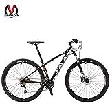 SAVADECK DECK300 マウンテンバイク 炭素繊維 29インチ 完全なハードテール MTB自転車シマノ30段変速 M610 DEORE (ホワイト)