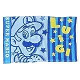 Marushin Nintendoスーパーマリオタオル枕カバーブルースターダストMario & Luigi for Kids 25x 39cm