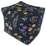 コージカンパニー 枕 ネイビー 16×16×16cm 備長炭セラミック テレビ枕 フラワー 120102