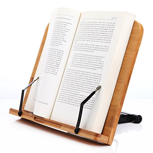 Readaeer ブックスタンド 筆記台 書見台 本立て 6段階調整 竹製