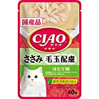 CIAO(チャオ) パウチ 毛玉配慮 ささみ ほたて味 40g×16袋【まとめ買い】【在庫限り】