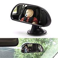 Sucktionカップと赤ちゃんの車のミラーは、安全カーシート、360°回転可能、クイックインストール、プレミアム品質を後ろ向きに幼児の子供を監視します
