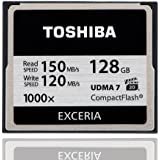 【128GB】東芝/TOSHIBA EXCERIA 1000倍速コンパクトフラッシュ UDMA7対応 R:150MB/s /W:120MB/s 海外パッケージ CF-128GTR8A