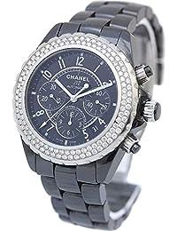 a1623803c825 シャネル CHANEL J12 41mm クロノグラフ ダイヤベゼル H1009 腕時計 ブラック メンズ ...