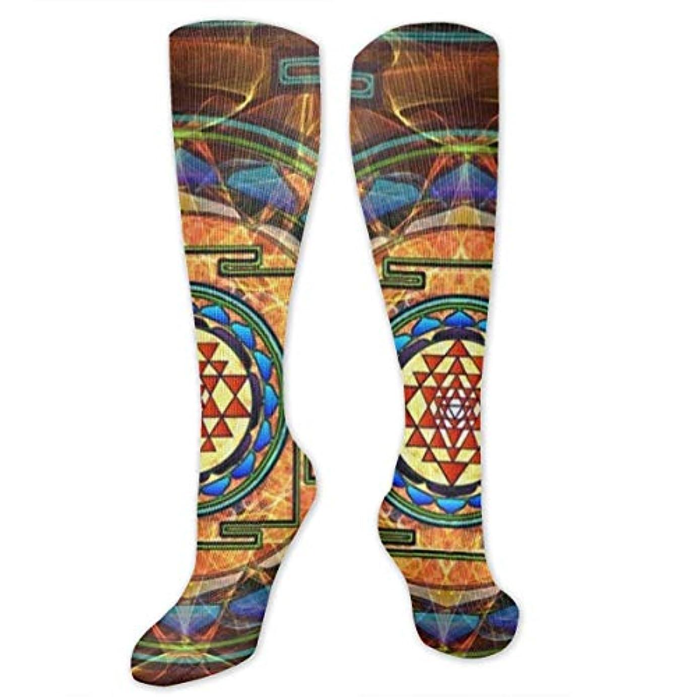コンテストふける送る靴下,ストッキング,野生のジョーカー,実際,秋の本質,冬必須,サマーウェア&RBXAA Sacred Geometry Socks Women's Winter Cotton Long Tube Socks Knee High...
