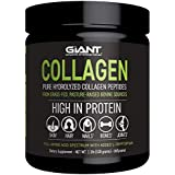 Giant Sports Complete Pure Collagen Peptides with Added L-Tryptophan, Grass-Fed, Pasture-Raised, Unflavoured, 528g