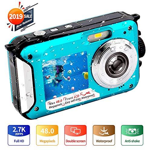 YISENCE デジタルカメラ 防水 防水カメラ 水中カメラ フルHD 2.7K 48 MP B07VVPXJDP 1枚目