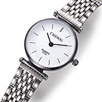 HWCOO 腕時計 メンズ腕時計カジュアル腕時計クォーツ腕時計超薄型スチールベルト (Color : 3)