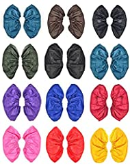 attachmenttou 雨靴カバー 再利用可能な防水雨の雪 ブーツは、耐熱PVC厚み付けソールの靴カバースリップ 男女