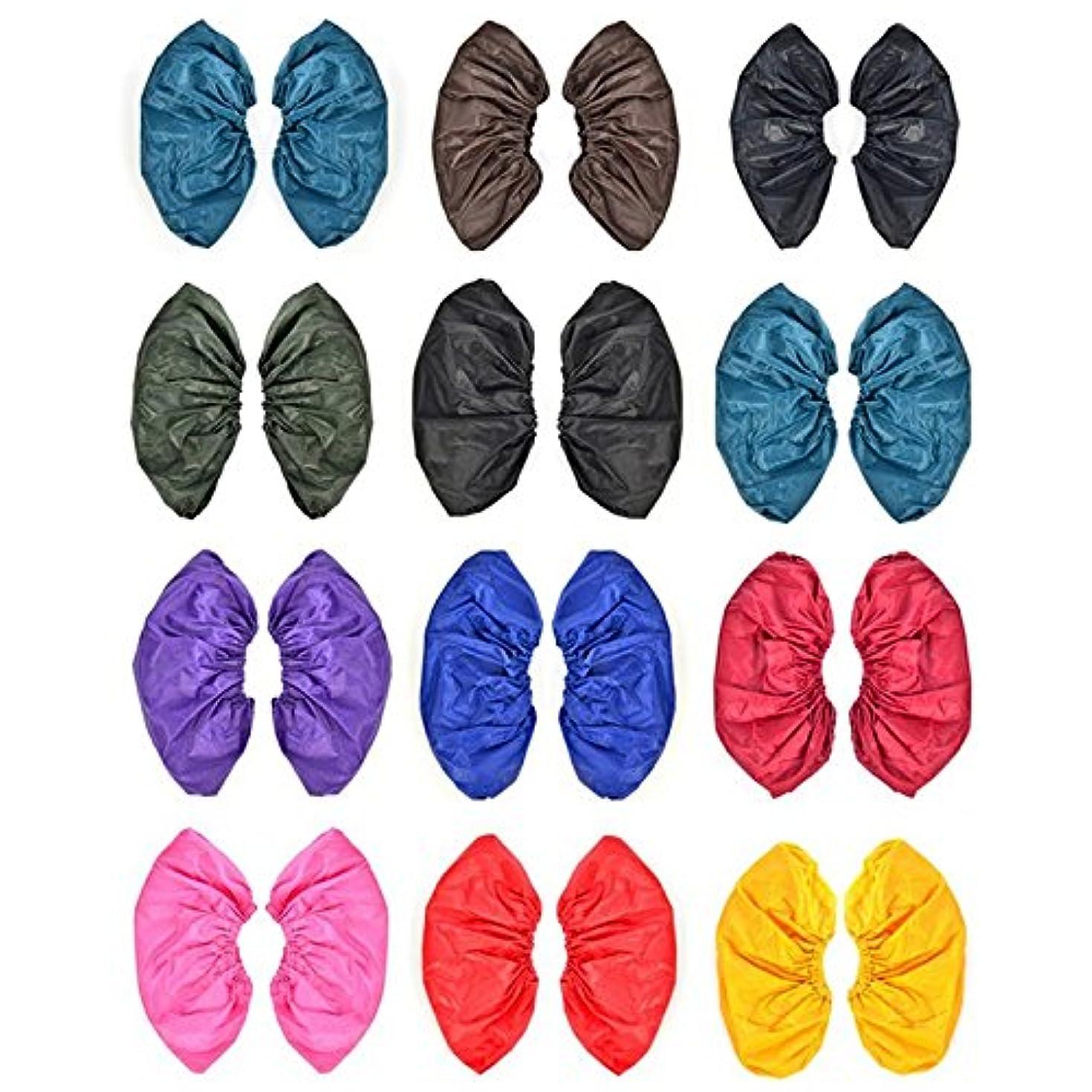 漫画シャワー完璧なattachmenttou 雨靴カバー 再利用可能な防水雨の雪 ブーツは、耐熱PVC厚み付けソールの靴カバースリップ 男女