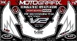MOTOGRAFIX(モトグラフィックス) ボディパッド VTR1000FIRE STORM 97-04 FRONT ホワイト/グレー MT-NH016W