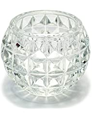 キャンドルホルダー ガラス 5 キャンドルスタンド クリスマス ティーキャンドル 誕生日 記念日