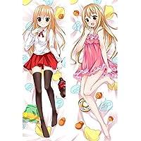 可愛いうまる カスタム 抱き枕カバー 両面プリント 2WAYトリコット アニメ 漫画 170x60cm