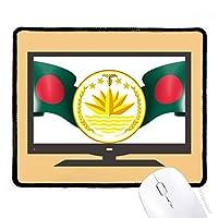 バングラデシュ国家エンブレムの国 マウスパッド・ノンスリップゴムパッドのゲーム事務所