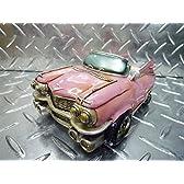 ビンテージ アメリカン マネーバンク オープンカー/ピンク ピンクキャデラック アメ車 貯金箱 インテリア ギフト