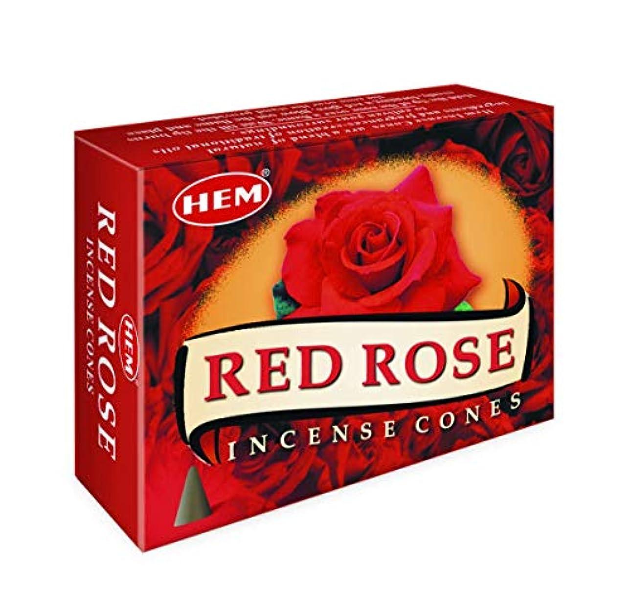 エクスタシー好み同封するHem Red Rose Fragrance Incense Cones (295 GMS)