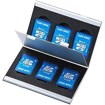サンワサプライ アルミメモリーカードケース(SDカード用・両面収納タイプ) FC-MMC5SDN