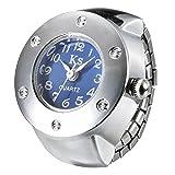 指輪時計 収納袋付き (3) ブルー)