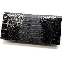 [ロダニア]RODANIA 財布 本ワニ革(カイマン)製二つ折り長財布 CJN0474BKTSP 黒[並行輸入品]